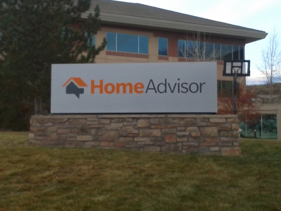 Home Advisor sign we built